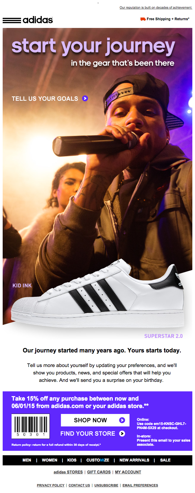 Adidas email preferences email