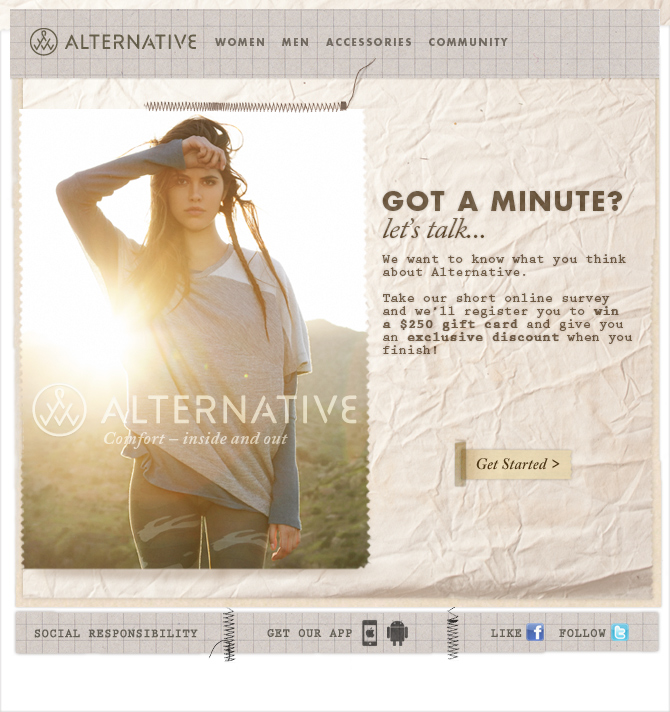 alternative got a minute email newsletter examples email newsletter examples. Black Bedroom Furniture Sets. Home Design Ideas