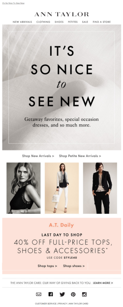 Ann Taylor new arrivals