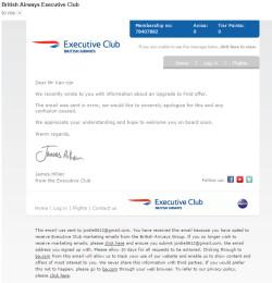 British Airways Apology email