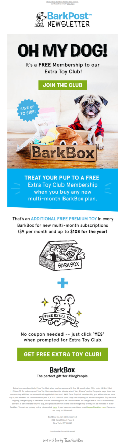 BarkPost special offer