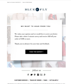 Bluefly We want to hear from you