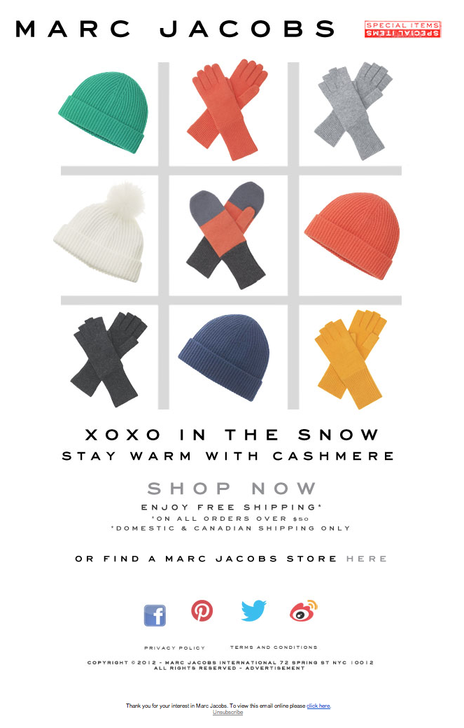 Marc Jacobs – XOXO in the snow