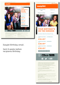 easyjet birthday emails