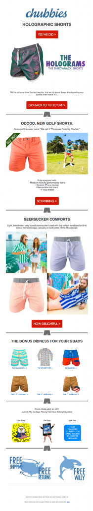 Chubbies – the hologram