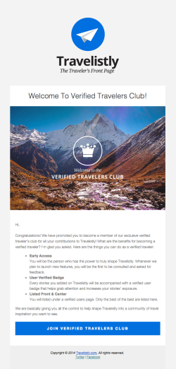 Travelistly Welcome to Verified travelers club
