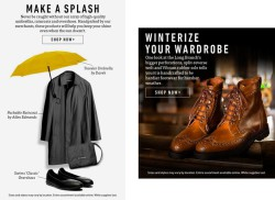 Allen Edmonds dynamic weather email