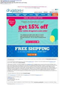 drugstore.com birthday email