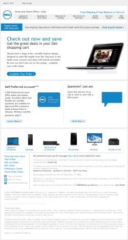 Dell abandonned cart email