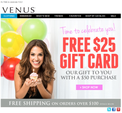 Venus birthday email