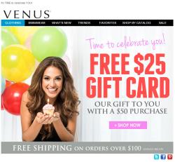 Venus birthday email