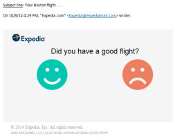 Expedia – did you have a good flight?