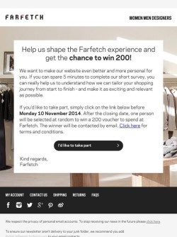 Farfetch Help us shape the Farfetch experience