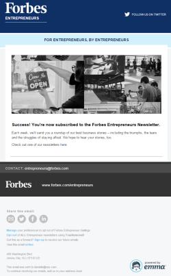 Forbes Newsletter 2015