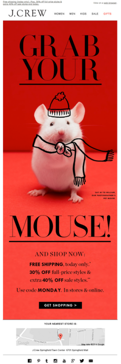 J.Crew – Grab your mouse