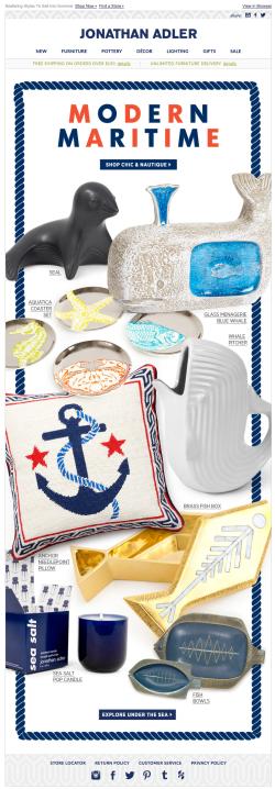 Jonathan Adler Modern Maritime email 2015