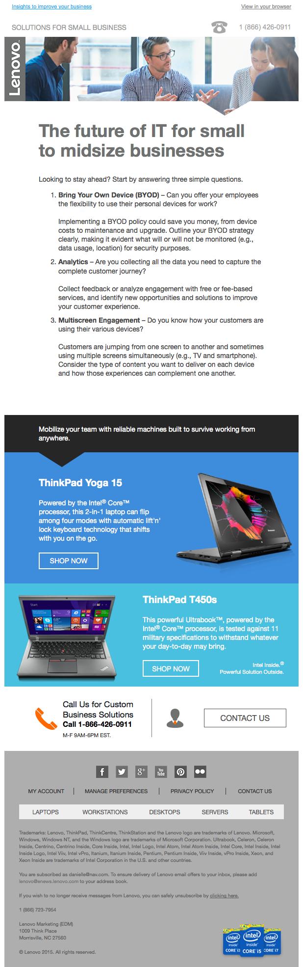 Lenovo newsletter 2015