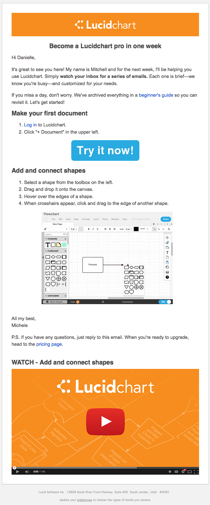 LucidChart welcome email 1 – 2015