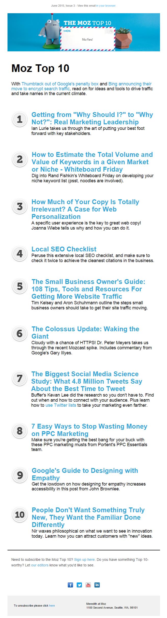 top ten email