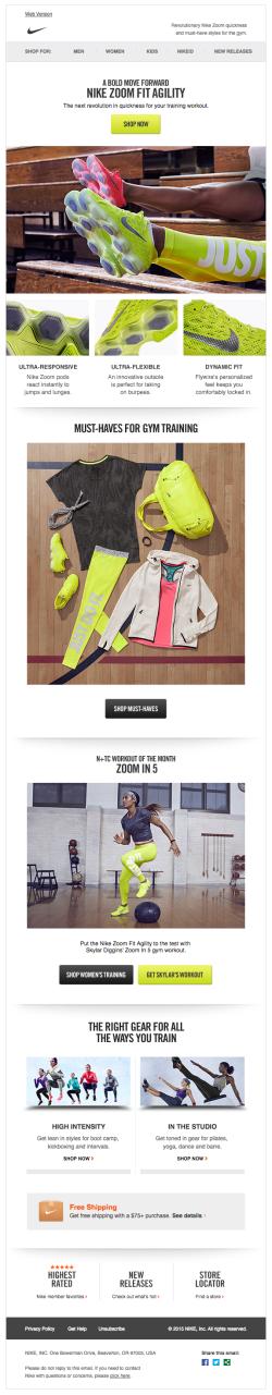 Nike email 2015