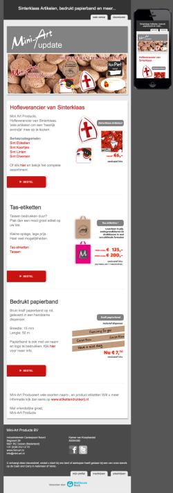 Mini-Art email: Op zoek naar Sinterklaasversiering?