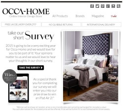 Occa-Home take our short survey and win