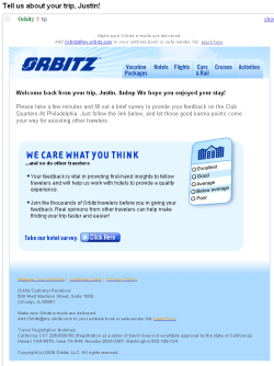Orbitz tell us about your Trip!
