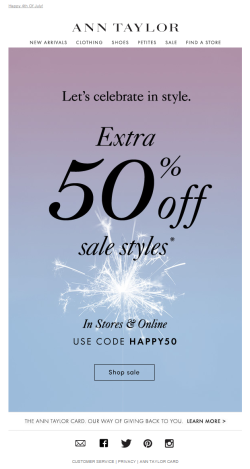 Ann Taylor July 4th email 2015