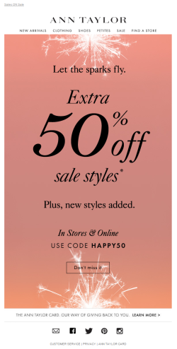 Ann Taylor July 4th email