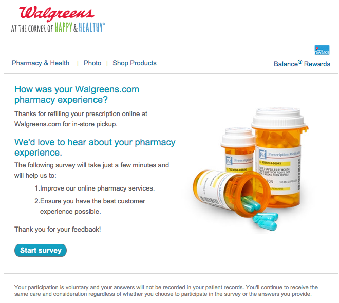 Walgreens survey