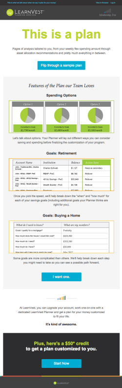 LearnVest upgrade email