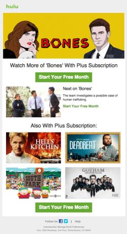 Hulu upgrade email