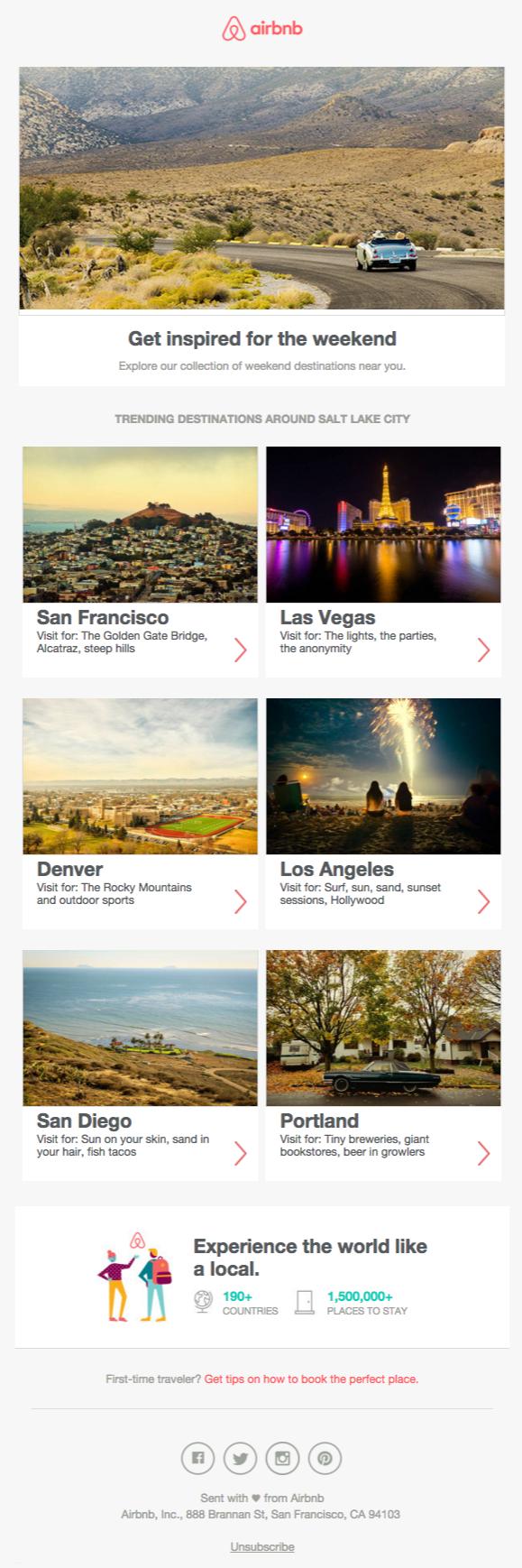 Airbnb newsletter 2015