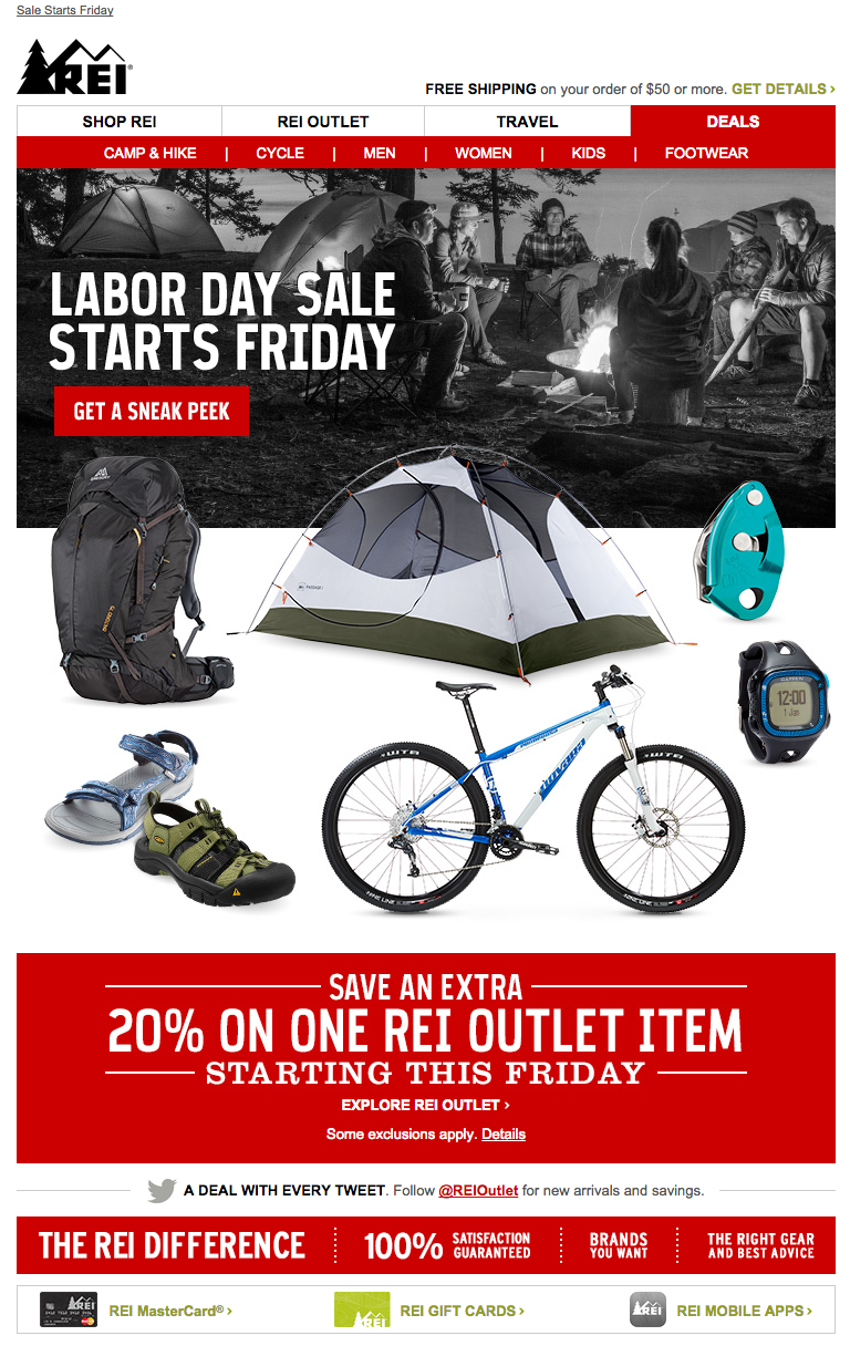 REI Labor Day email 2015