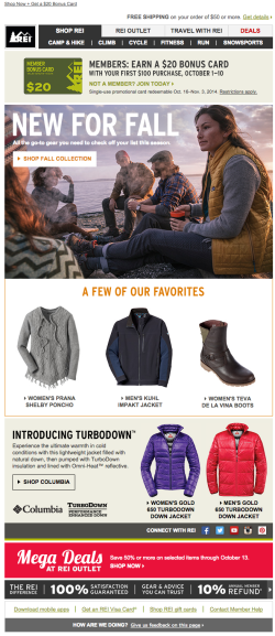 REI fall email 2015