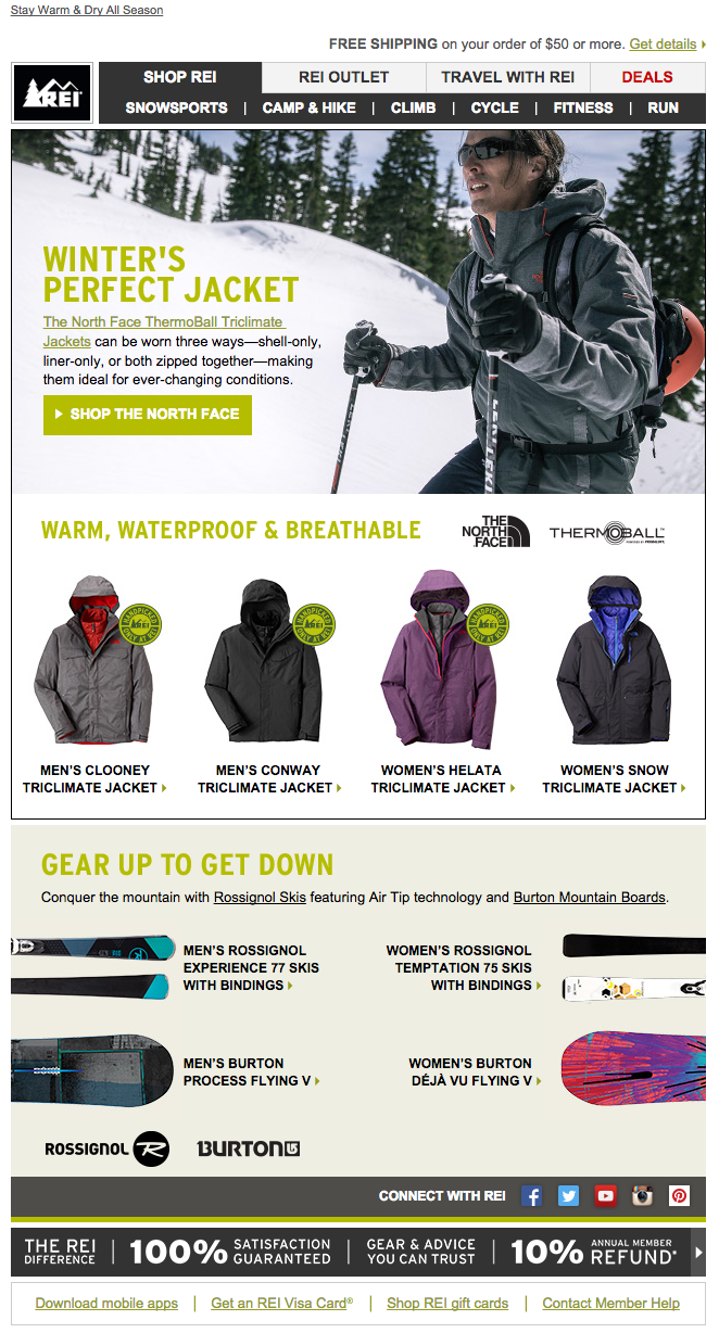 REI winter email