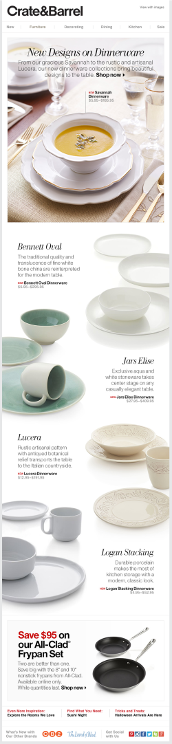 Crate & Barrel email