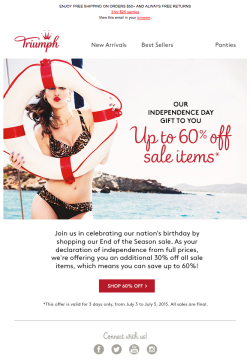 Triumph July 4th email 2015