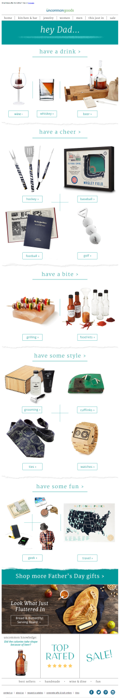 Uncommon Goods Father's Day 2015