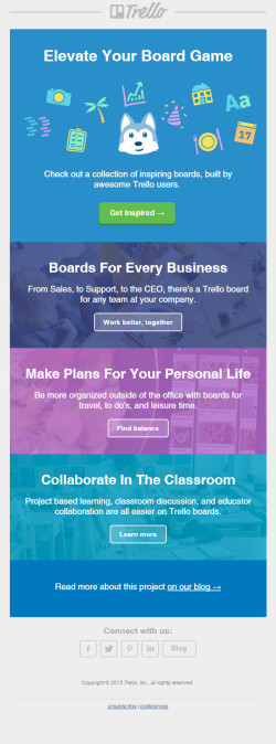 Trello – Inspiration email
