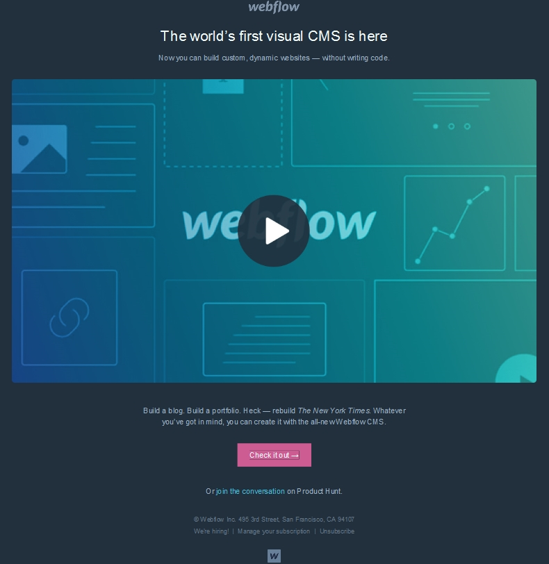 Webflow new feature announcement