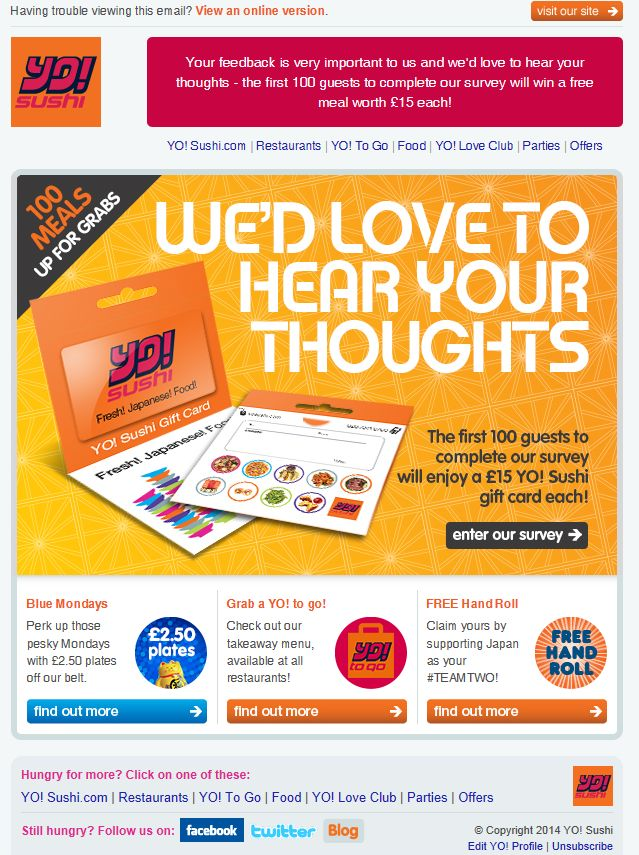 Yosushi – We'd Love to hear your thoughts
